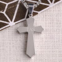 Classic Silver Cross Pendant Necklace