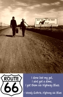 Walkin' to LA Down Route 66 11x17 Poster