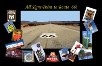 All Signs Point to Route 66 11x17 Poster
