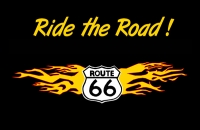 Ride the Road Route 66 11x17 Poster