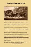 Stagecoach Rules 11x17 Poster