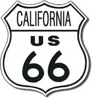 California Route 66 Road Tin Sign