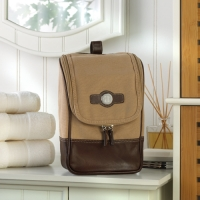 Leather and Canvas Travel Kit