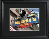 NFL Pub Print with Wood Frame