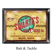 Personalized Bait & Tackle Company Pub Sign
