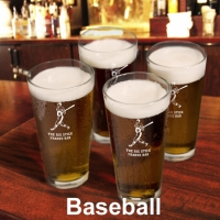 Four Sports Icon Pint Glasses