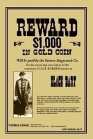 Black Bart Wanted 11x17 Poster