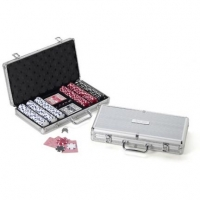 300 Piece Poker Chip Set in Personalized Case