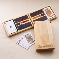 Wood Cribbage Game Set (Personalized)