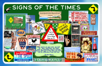 Americana Signs Of The Times Poster