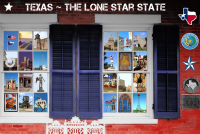 Americana Texas Windows Poster