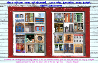 Americana Whimsical Windows Poster