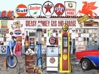 Americana Gas n' Garage Print or Canvas - Starting @ $16.99