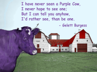 Americana Purple Cow Print or Canvas - Starting @ $16.99