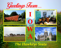 Iowa Greetings Postcard