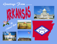 Arkansas Greetings Postcard