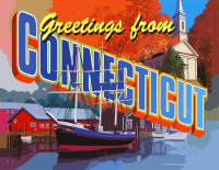 Connecticut Greetings Postcard