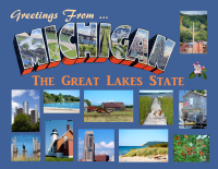 Michigan Greetings Postcard