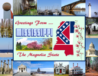 Mississippi Greetings Postcard
