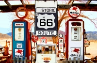Gas Pumps - Hackberry, Arizona - 11x17 Poster