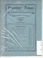 1923 - October Frontier Times (Reproduction)