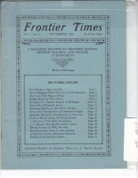 1923 - November Frontier Times (Reproduction)
