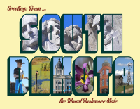 South Dakota Greetings Postcard