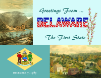 Delaware Greetings Postcard