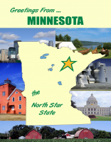 Minnesota Greetings Postcard