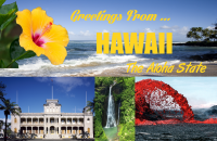 Hawaii Postcard Poster