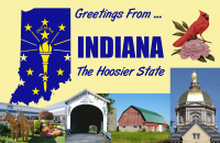 Indiana Postcard Poster