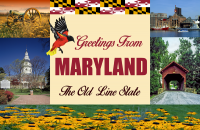 Maryland Postcard Poster