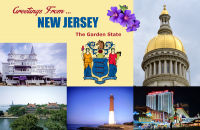 New Jersey Postcard Poster
