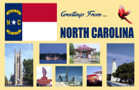 North Carolina Postcard Poster