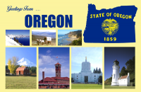 Oregon Postcard Poster
