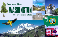 Washington Postcard Poster