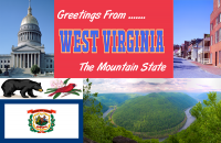 West Virginia Postcard Poster