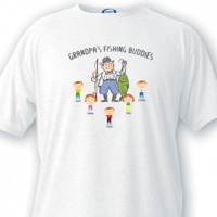 Grandpa Fishing Buddies T-Shirt (Personalized)