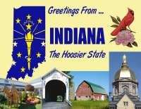 Indiana Greetings Postcard