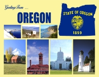 Oregon Greetings Postcard