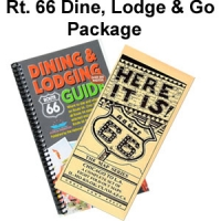 Route 66 Dine, Lodge & Go Package - Dining & Lodging Guide with Map Series