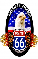 America's Highway - Route 66 (Eagle) 11x17 Poster