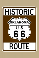 Historic Route 66 (Oklahoma) Sign Poster