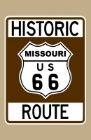 Historic Route 66 (Missouri) Sign Poster