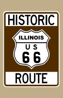 Historic Route 66 (Illinois) Sign Poster