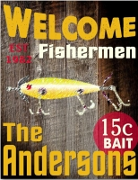 Personalized Fishermen Canvas Sign (18x24)
