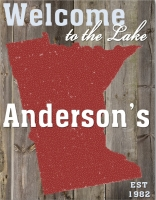 Personalized Lake House State Canvas Sign (18x24)