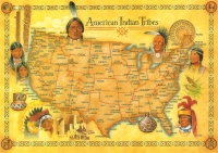 American Indian Tribes Jumbo Postcard