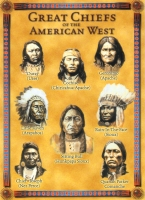 Great Chiefs of the American West Jumbo Postcard