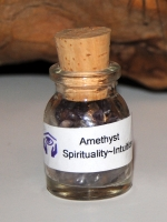 Amethyst Healing Stones in Apothocary Style Bottle